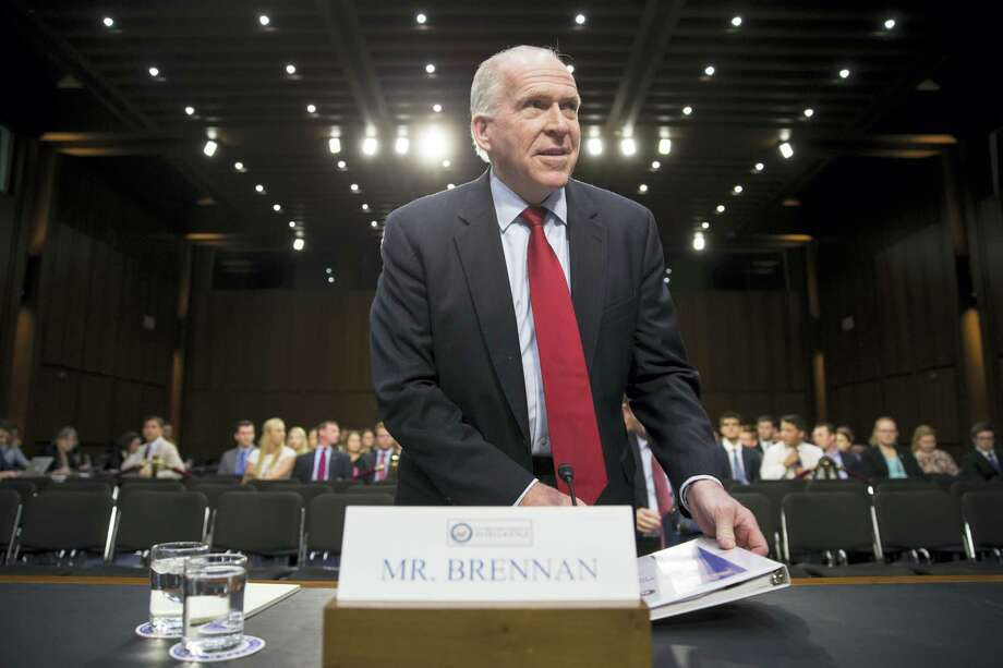 """CIA Director John Brennan arrives on Capitol Hill in Washington on June 16, 2016 to testify before the Senate Intelligence Committee hearing on the Islamic State. Brennan said that the Islamic State remains """"formidable"""" and """"resilient,"""" is training and attempting to deploy operatives for further attacks on the West and will rely more on guerrilla-style tactics to compensate for its territorial losses in the Middle East. Photo: AP Photo/J. Scott Applewhite  / AP"""