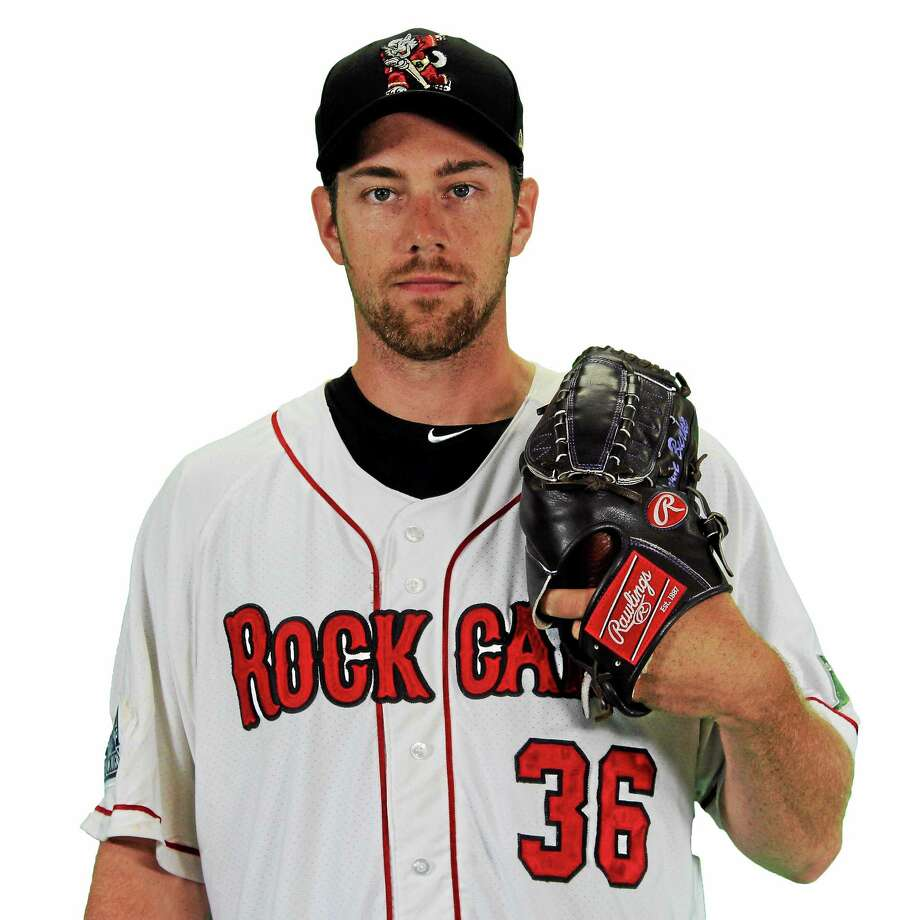 Right-handed pitcher Devin Burke. Photo: Photo Courtesy Of New Britain Rock Cats