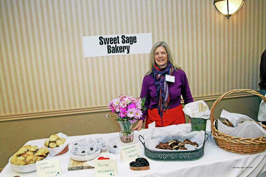 Kathy Duffy of Sweet Sage Bakery in Middlefield took the prize for Critic's Choice for Most Amazing Flavor at the Chocolate to the Rescue event. Photo: Bill De Kline — Special To The Press  / (c)dekinephotoLLC2013