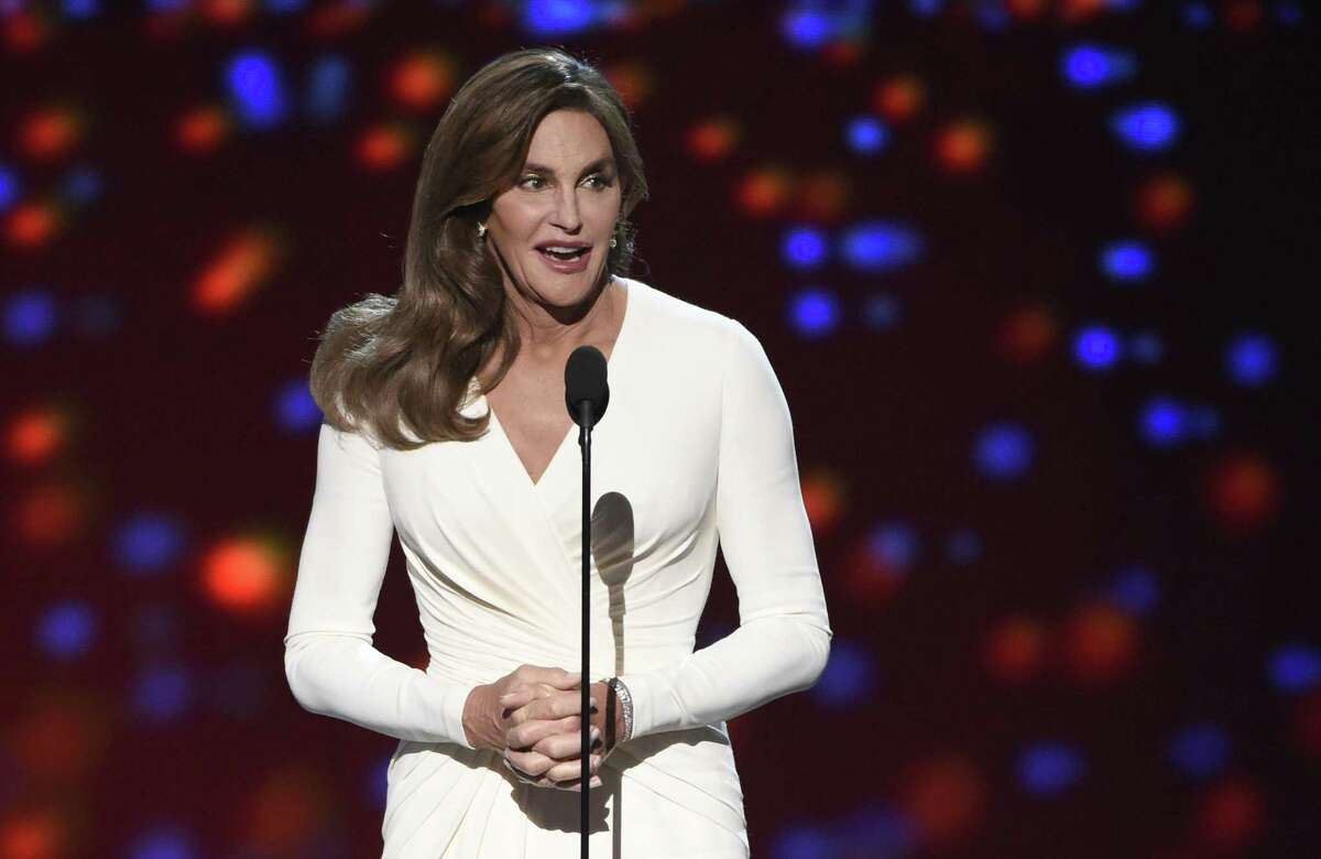 In this July 15, 2015, file photo, Caitlyn Jenner accepts the Arthur Ashe award for courage at the ESPY Awards at the Microsoft Theater, in Los Angeles. Prosecutors said Wednesday, Sept. 30, they have declined to charge Caitlyn Jenner in the Feb. 7 collision in California in which authorities said Jennerís sport utility vehicle crashed into two cars, pushing one into oncoming traffic.
