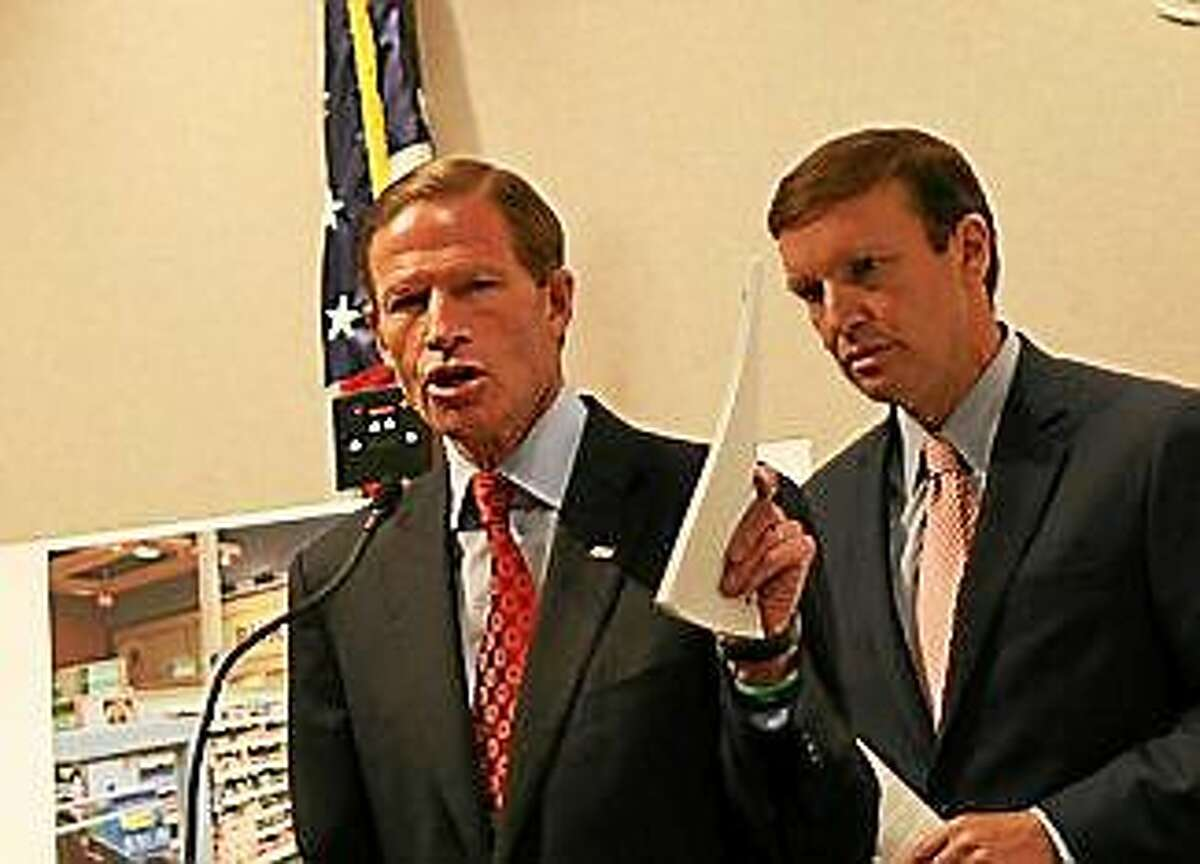 U.S. Sen. Richard Blumenthal, D-Conn., speaks at a press conference Tuesday in Hartford.