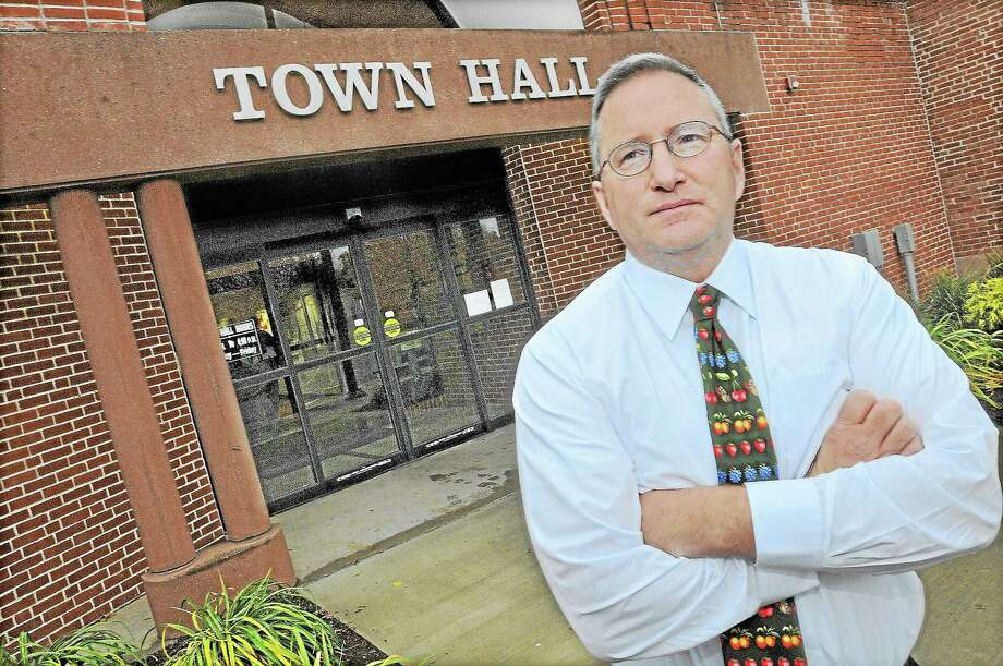 """Town Manager Jonathan B. Sistare, shown in this file photo, is proposing adding some responsibilities to the accountant's position and renaming it """"assistant finance director"""" – with a salary increase. Photo: Catherine Avalone - The Middletown Press  / TheMiddletownPress"""