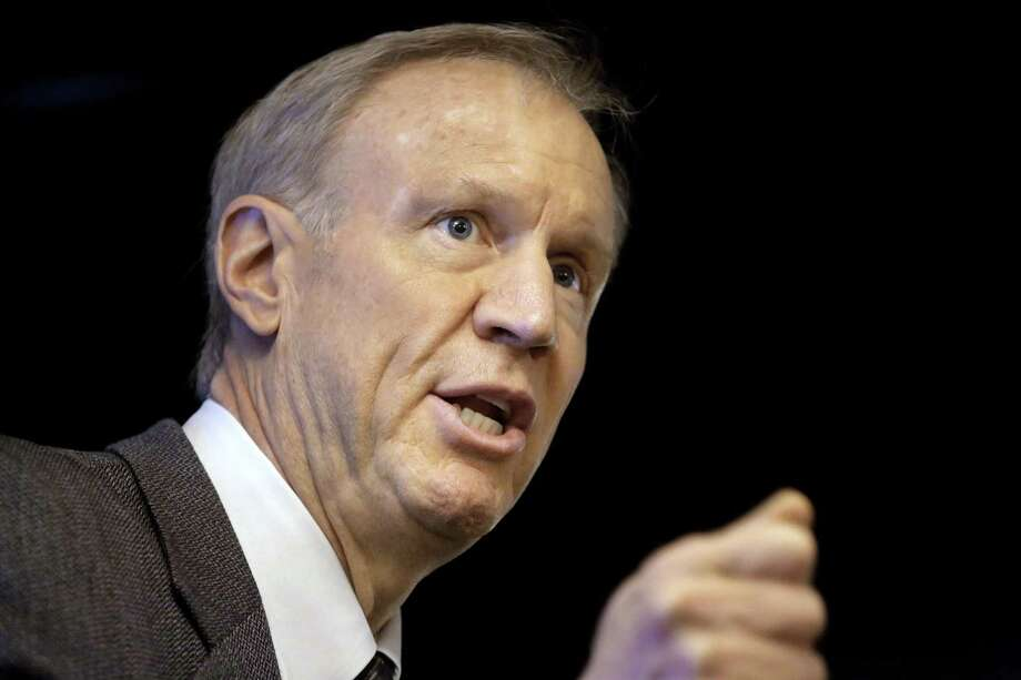 In this March file photo, Illinois Gov. Bruce Rauner speaks at an event in Springfield, Ill. Photo: (AP Photo/Seth Perlman, File) / AP