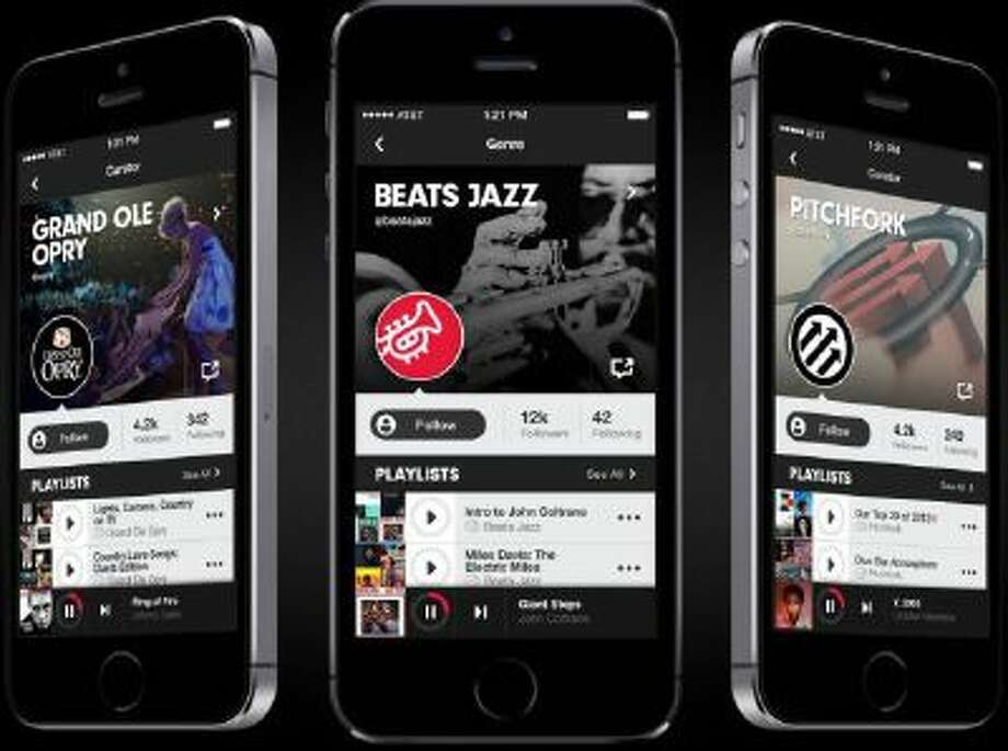 This screenshot shows a frame grab of Beats Music. Beats Music comes from Beats Electronics, the headphone-maker backed by hip-hop mogul Dr. Dre and former music executive Jimmy Iovine.