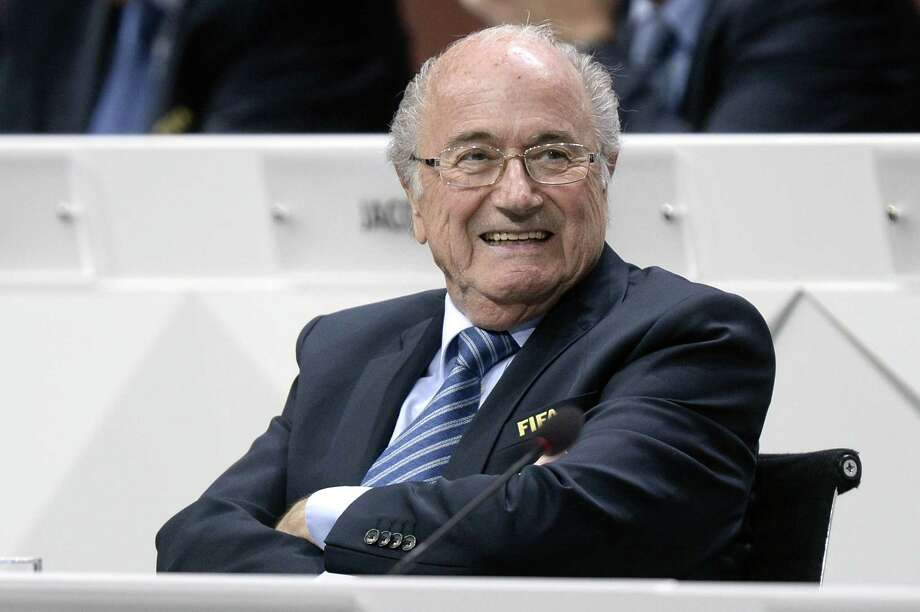 FIFA president Sepp Blatter was re-elected as FIFA president Friday at the 65th FIFA Congress held at the Hallenstadion in Zurich, Switzerland. Photo: The Associated Press  / KEYSTONE