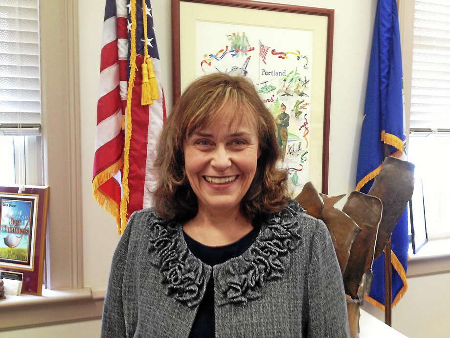 Susan Bransfield is the first selectwoman of Portland. She's invited the Metropolitan District Commission COO Scott Jellison to talk at the next selectmen's meeting about water services for townfolk. Photo: Jeff Mill - The Middletown Press