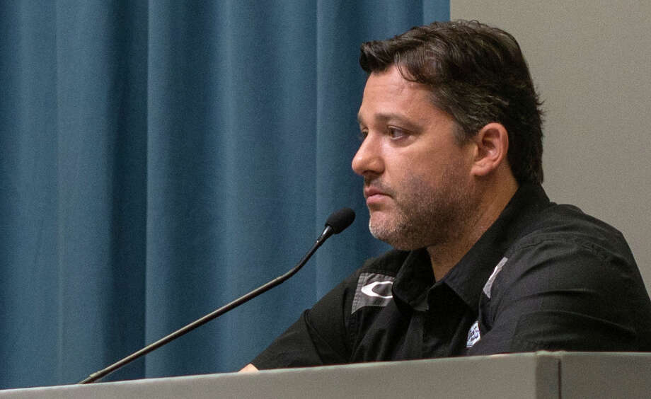 NASCAR driver Tony Stewart listens during a news conference at Stewart-Haas Racing Monday, Sept. 29, 2014, in Kannapolis, N.C.  (AP Photo/The Charlotte Observer, Mark Hames) MAGS OUT; TV OUT; NEWSPAPER INTERNET ONLY Photo: AP / The Charlotte Observer