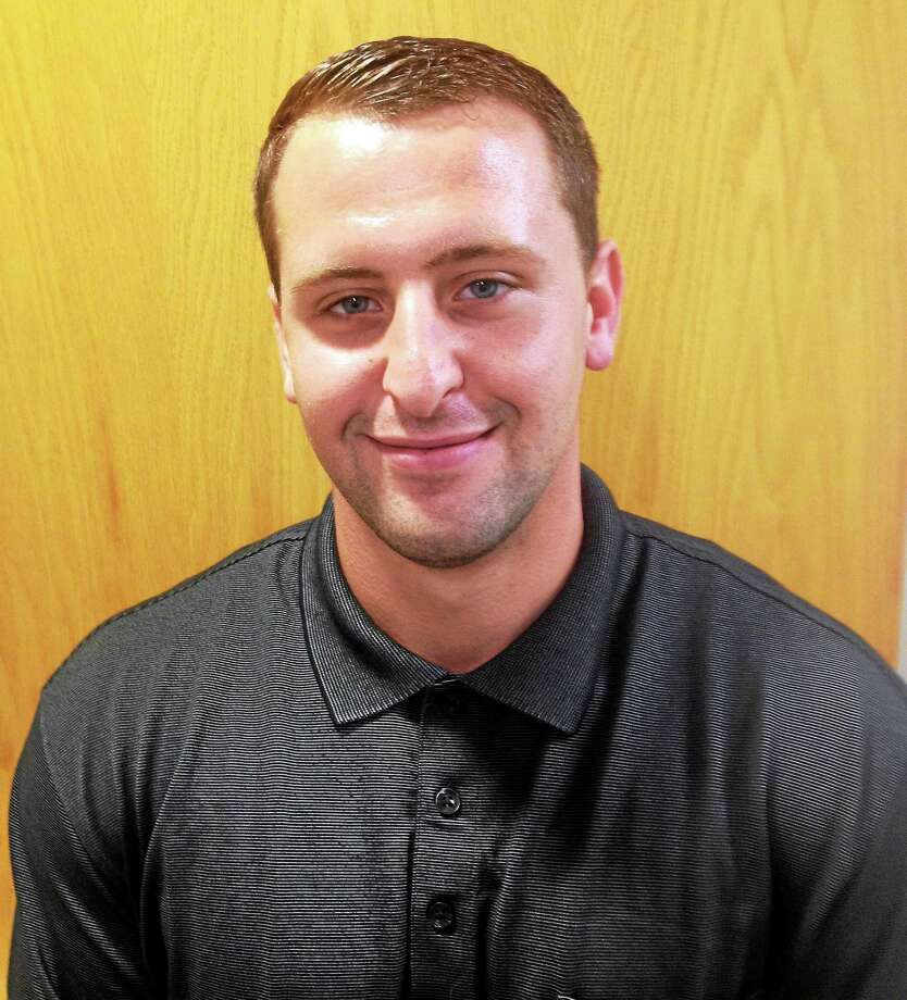 Kyle Perricone is Cromwell's new police officer. Photo: Jeff Mill — The Middletown Press