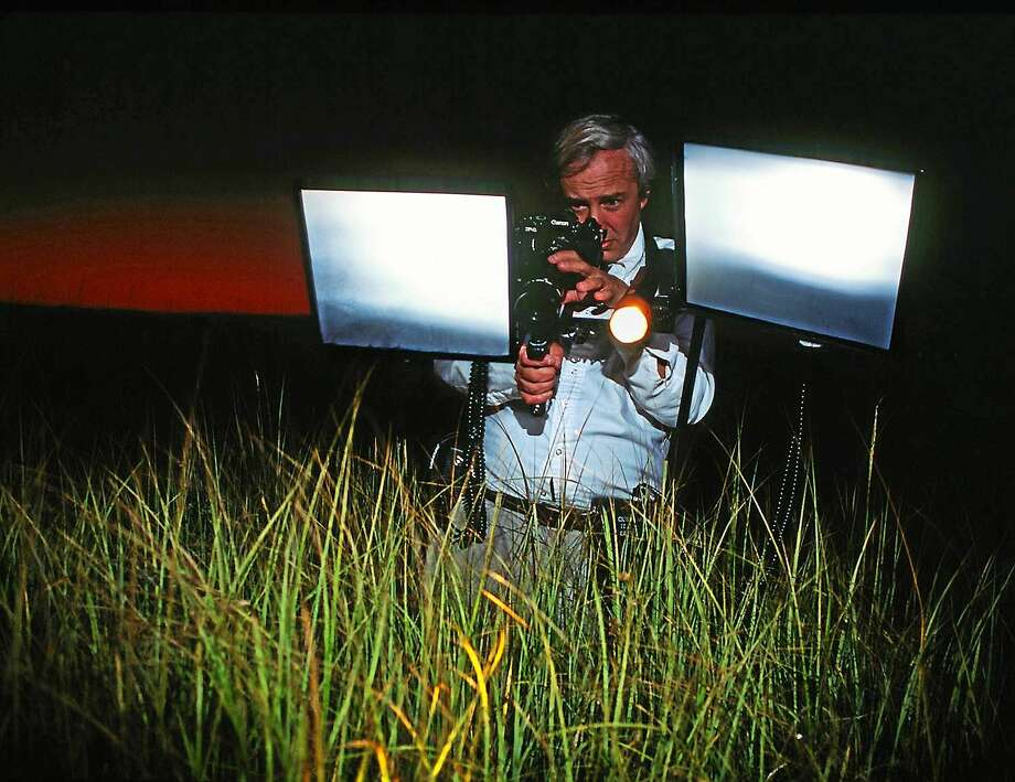 William Burt in the field with his night photography set up. Photo: Courtesy