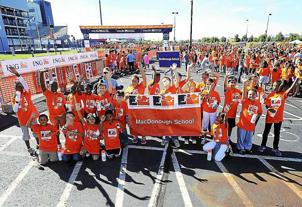 Middletown's Commodore Macdonough Elementary School students and teachers will participate in the upcoming Hartford Marathon for the seventh year.