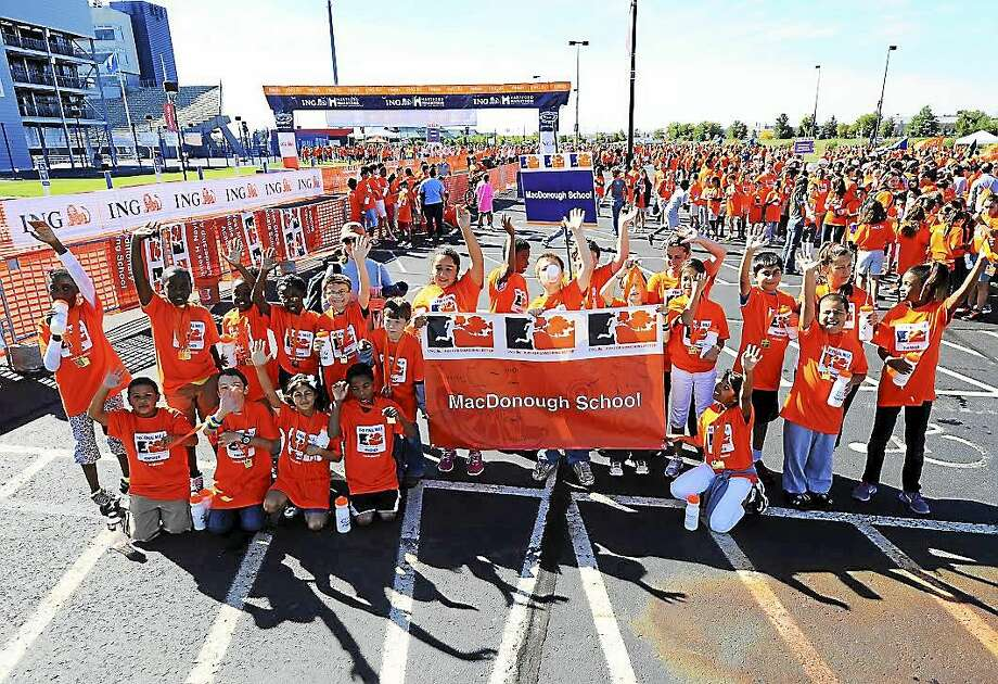 Middletown's Commodore Macdonough Elementary School students and teachers will participate in the upcoming Hartford Marathon for the seventh year. Photo: Courtesy Hartford Marathon Foundation