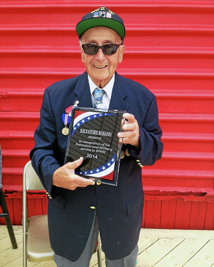Jeff Mill - The Middletown Press Cromwell held its Memorial Day parade Friday May 30, 2014. Here is World War II veteran Sal Rosano. Photo: Journal Register Co.