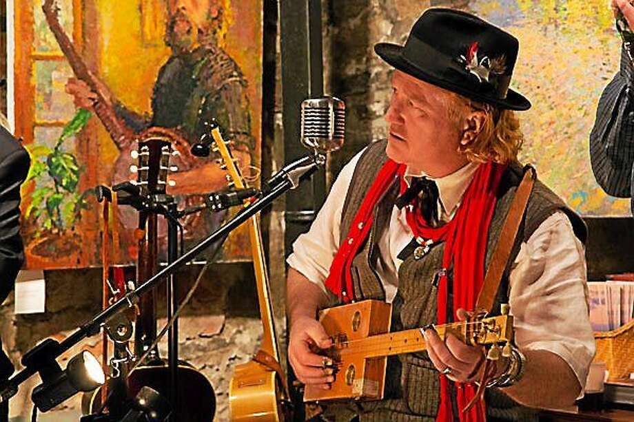Contributed photos Ramblin' Dan Stevens will give a concert at Leiff Nilsson Spring Street Studio and Gallery Feb. 8. Photo: Journal Register Co.