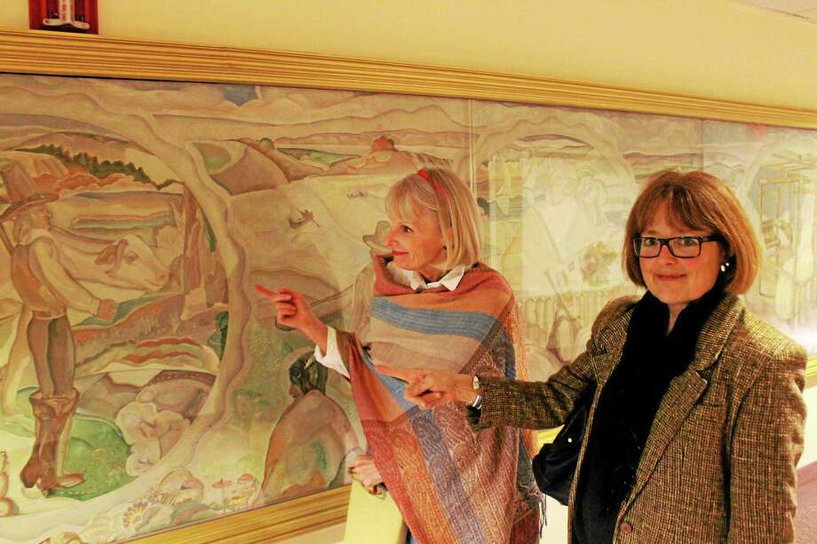 """Albert McCutcheon's work, """"The Epic of Middletown,"""" shows the city's history and originally hung in the school's library. It's now housed in the Woodrow Wilson apartments and stands at 60 feet by 4 feet in length. Photo: Courtesy Photo"""