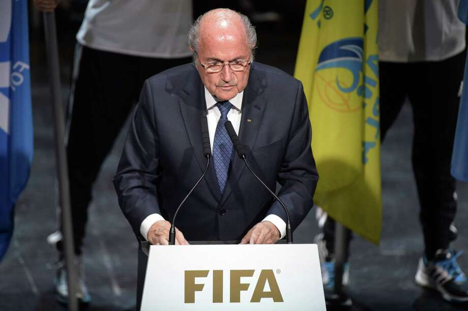 FIFA President Sepp Blatter speaks Thursday at the opening ceremony of the FIFA congress in Zurich, Switzerland. Photo: The Associated Press  / KEYSTONE