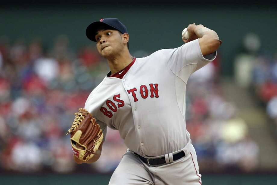 Red Sox starting pitcher Eduardo Rodriguez became the youngest Red Sox starter to win in his major league debut on the road since 1967. Photo: Brandon Webb — The Associated Press   / FR168019 AP