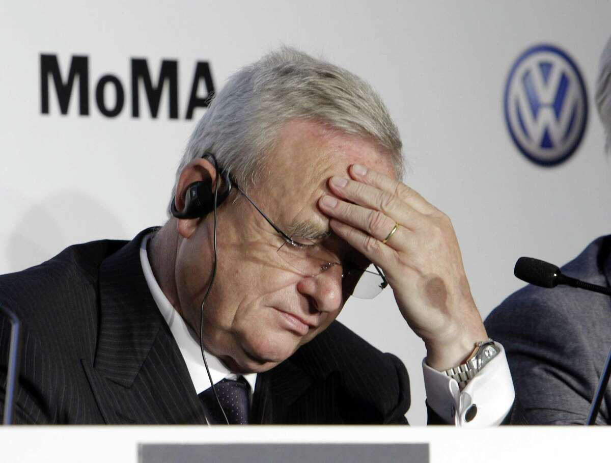 In this May 23, 2011 photo, Martin Winterkorn, then-CEO of Volkswagen, participates in a news conference at New York's Museum of Modern Art.