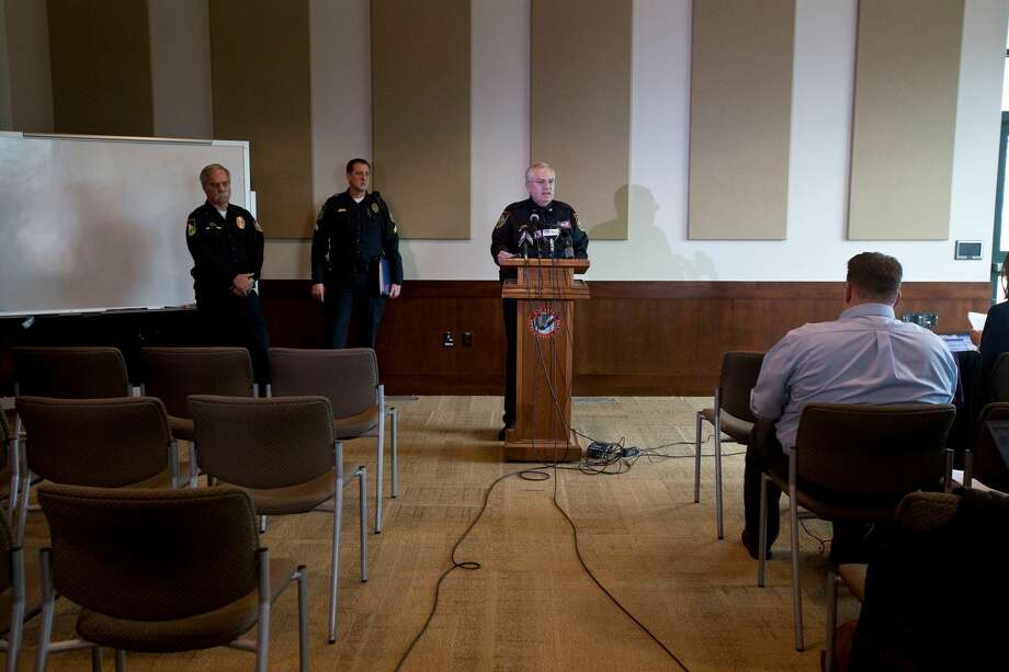 Chief Scott Finlayson speaks during a news conference about the Strack family on Tuesday, Jan. 27, 2015, at Springville, Utah. Police said they will release the conclusion of their investigation into the deaths of five members of the Utah family found in a single bedroom last fall. (AP Photo/The Daily Herald, Sammy Jo Hester) Photo: AP / The Daily Herald