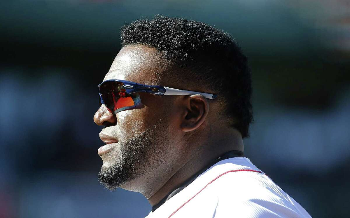 David Ortiz looks on during the sixth inning of Sunday's game against the Orioles.