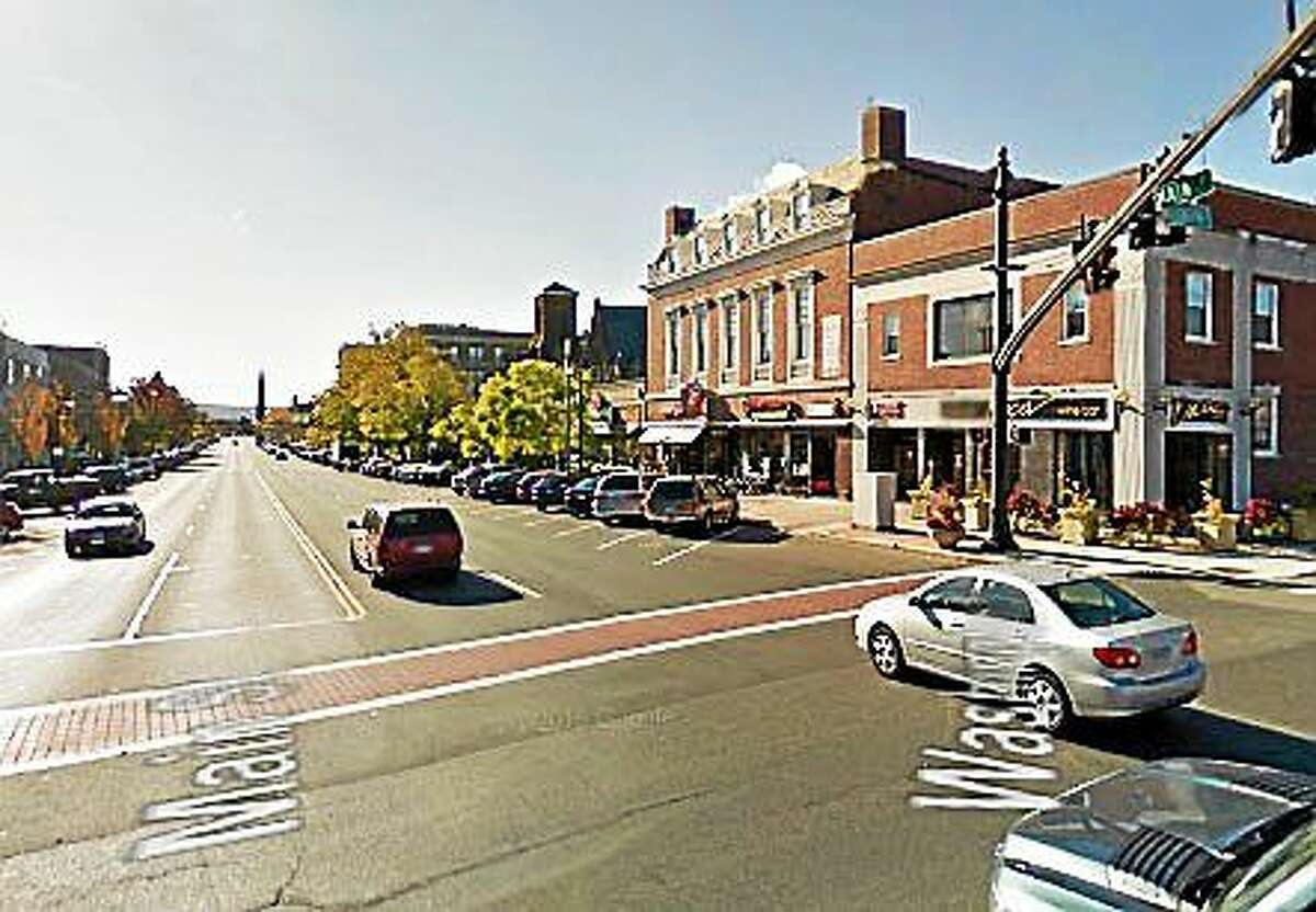 The decorative brick crosswalk on Main Street and Route 66 will be repaired on Friday.
