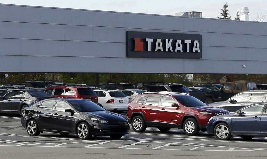 FILE - This Oct. 22, 2014, file photo, shows the Takata building, an automotive parts supplier in Auburn Hills, Mich. On Tuesday, May 19, 2015, Takata doubled the size of its air bag recall to 33.8 million air bags, making it the largest recall in U.S. history. The air bags can inflate with too much force, sending metal shrapnel into drivers and passengers. So far the problem has caused six deaths, including five in the U.S. (AP Photo/Carlos Osorio, File) Photo: AP / AP