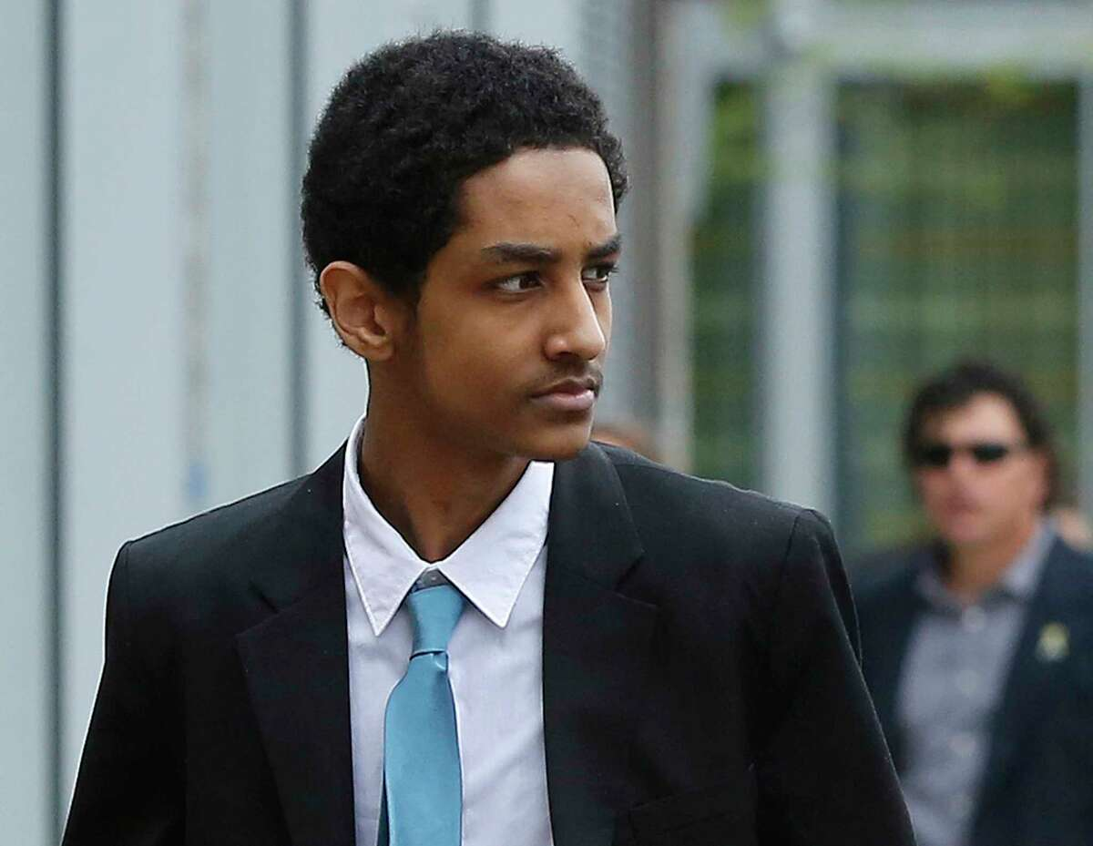 FILE - In this May 15, 2014 file photo, Robel Phillipos, a college friend of Boston Marathon bombing suspect Dzhokhar Tsarnaev, arrives at federal court before a hearing in Boston. Jury selection for his trial is set to begin on Monday, Sept. 29, 2014, in federal court in Boston. Phillipos, a U.S. citizen, is charged with lying to investigators after last year's fatal bombing. (AP Photo/Steven Senne, File)