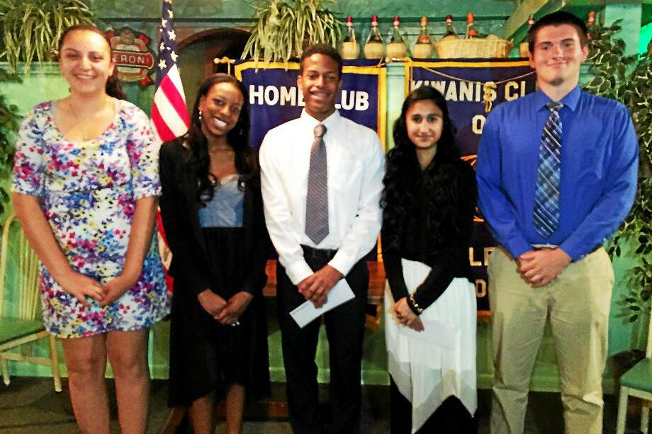 Earlier this month the Middletown Kiwanis Club presented scholarship awards to five city students. Photo: Courtesy Photo  / Lynn Baldoni