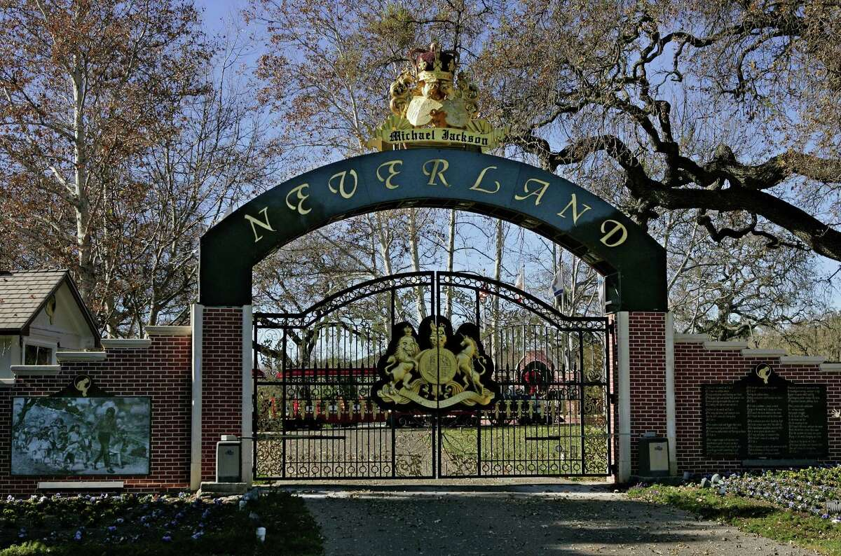 This December 2004 photo shows the entrance to late pop star Michael Jackson's Neverland Ranch in Santa Ynez, Calif.