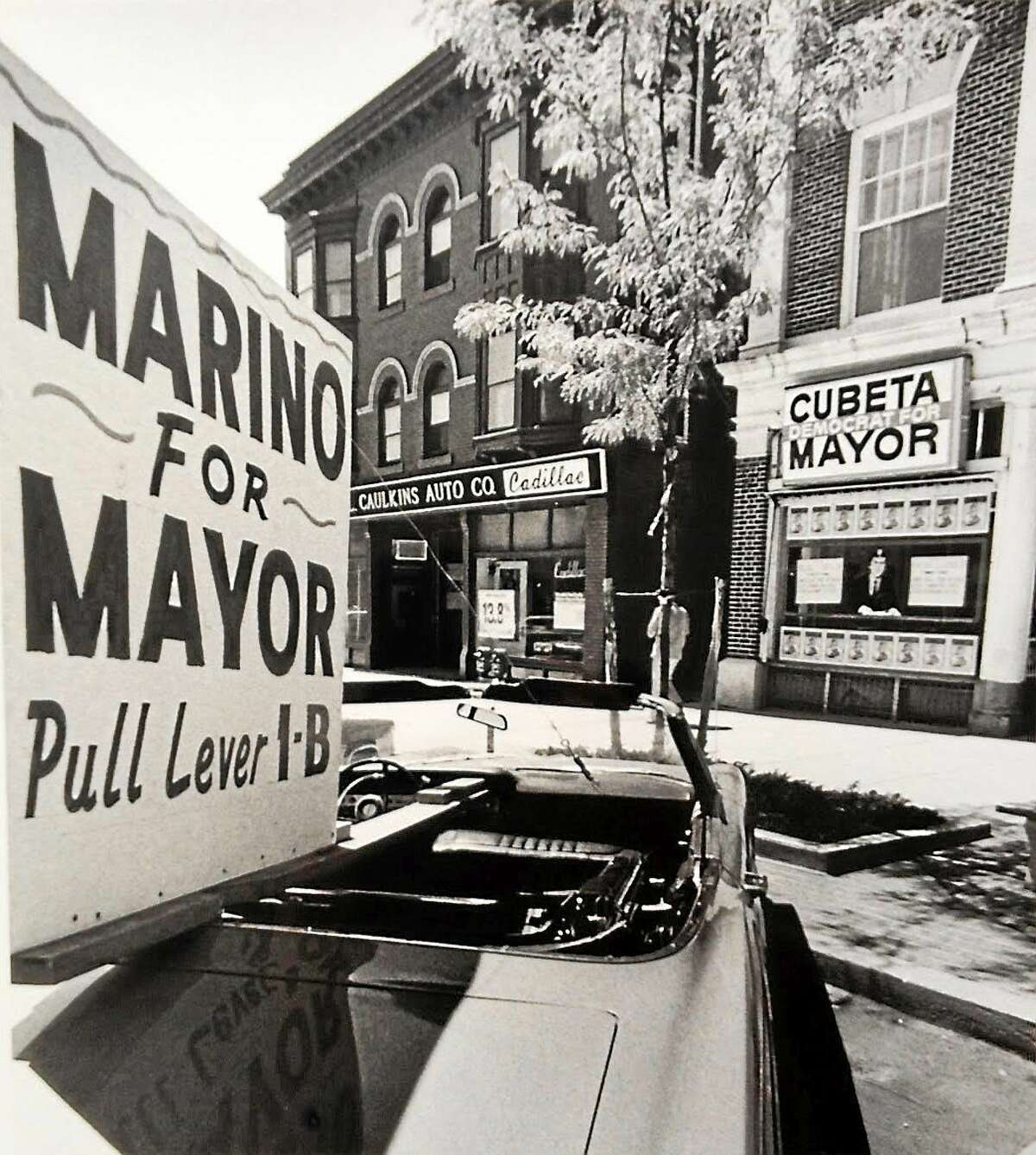 According to former Mayor Michael Cubeta, in 1981 when he was running for re-election, longtime Middletown politician Anthony Marino came out of retirement to primary him for the Democratic nomination. Cubeta's headquarters was on the west side of Main Street just north of Washington Street, adjacent to the current Luce's restaurant.