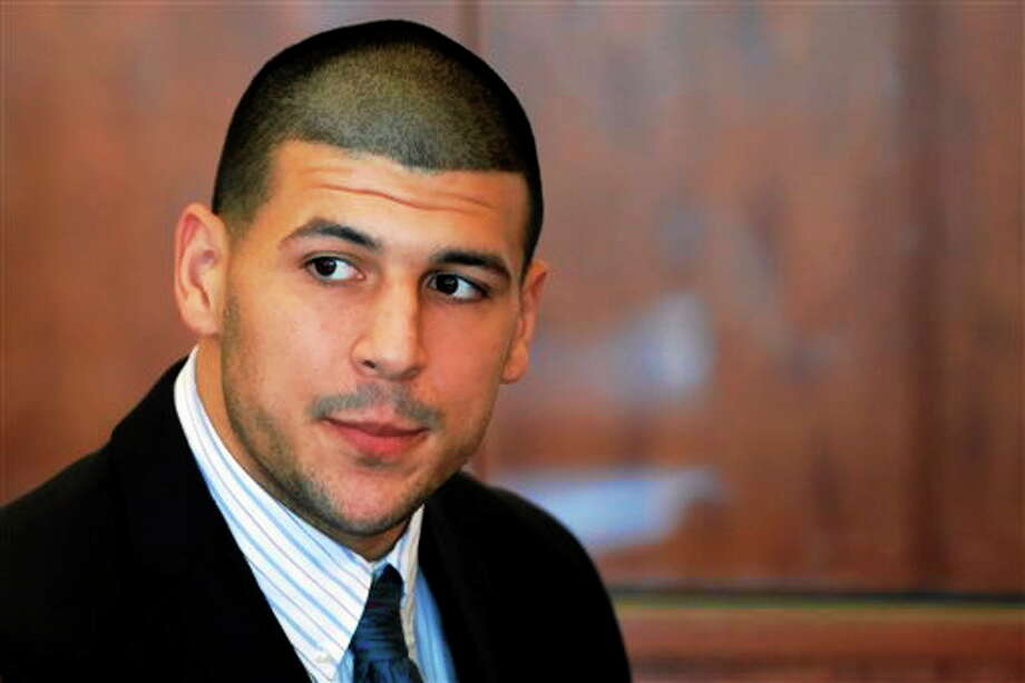 In this Oct. 9, 2013 photo, former New England Patriots NFL football player Aaron Hernandez attends a pretrial court hearing in superior court in Fall River, Mass. Hernandez has pleaded not guilty to murder in Odin Lloyd's killing in June. Photo: AP Photo/Brian Snyder, Pool, File  / Pool Reuters