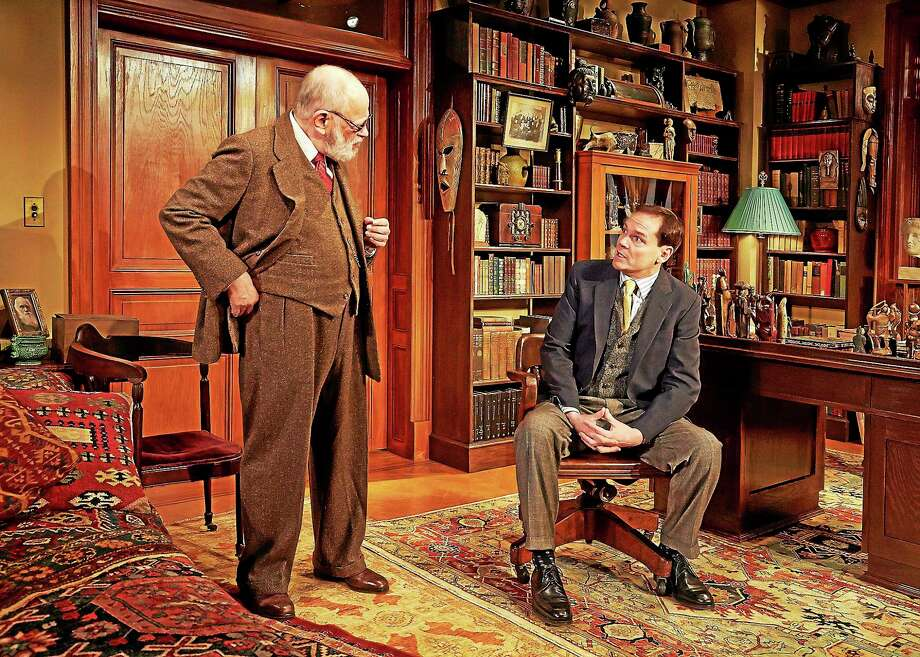 Photos by Lanny Nagler C. S. Lewis, performed by a competent, assured and dedicated Jonathan Crombie, opposite Kenneth Tigar as Sigmund Freud in TheaterWorks Hartfordís ìFreudís Last Session.î Photo: Journal Register Co.