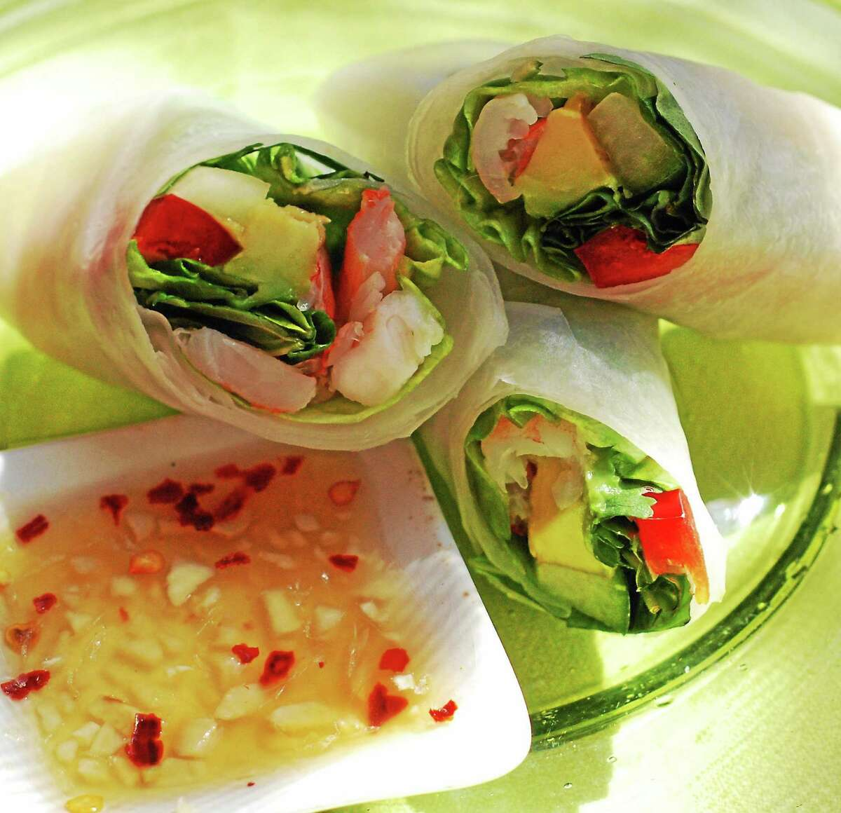 Spring rolls made by chef Amanda Cushman