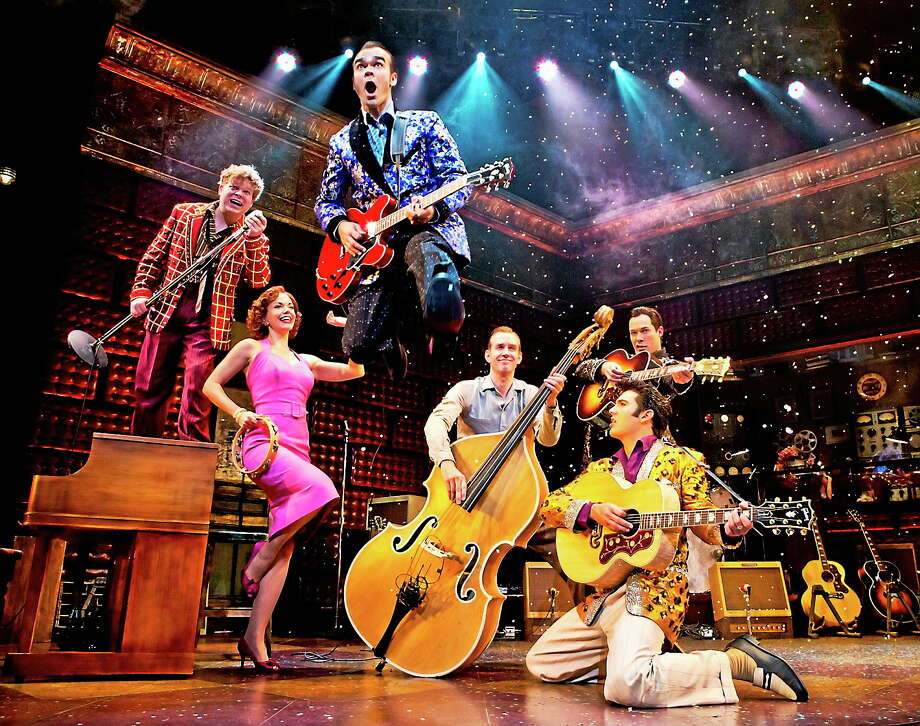 Photo courtesy of The Palace Theater Tuesday, December 4, 1956 lives on in the smash musical hit ìMillion Dollar Quartet, written by Floyd Mutrux and Colin Escott,î as it recreates that one and only legendary day in the history of rock ën roll. Photo: Journal Register Co.