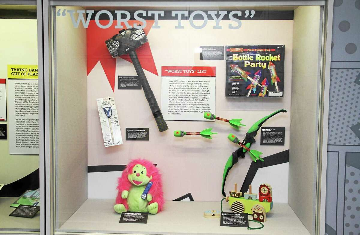 An American Museum of Tort Law display of dangerous toys pulled off shelves in the wake of tort cases is highlighted in the museum located at 654 Main St. in Winsted.