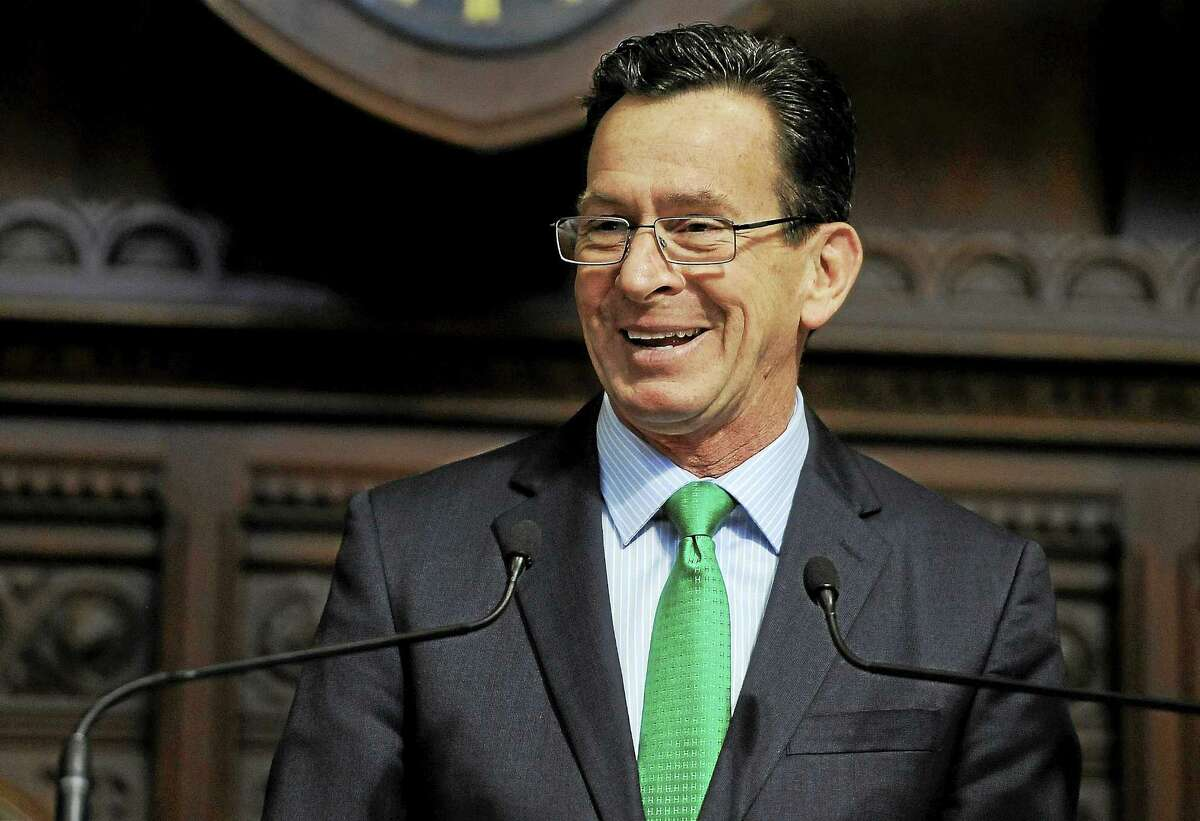 Connecticut Gov. Dannel P. Malloy delivers his budget address to the Senate and House at the state Capitol Feb. 18 Hartford.