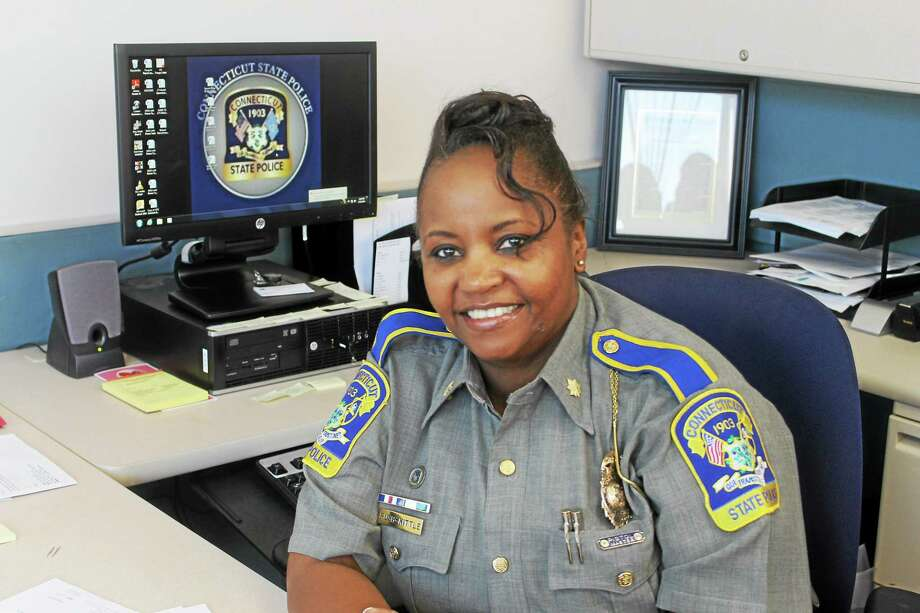 Major Regina Rush-Kittle, a former Middletown resident, was recently named commanding officer of the Connecticut State Police Central District Headquarters in Middletown. Photo: Valerie Bannister — Special To The Press