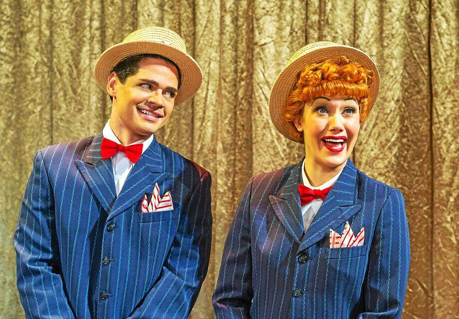 Photo by Justin Namon Euriamis Losada (Ricky Ricardo) and Thea Brooks (Lucy Ricardo) in the national tour of I LOVE LUCYÆ LIVE ON STAGE. Photo: Journal Register Co.