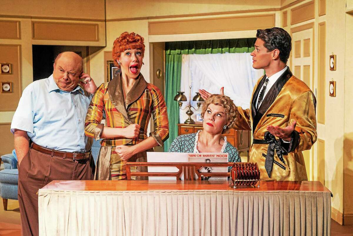 Photo by Justin Namon From left, Kevin Remington (Fred Mertz), Thea Brooks (Lucy Ricardo), Lori Hammel (Ethel Mertz) and Euriamis Losada (Ricky Ricardo) in the national tour of I LOVE LUCYÆ LIVE ON STAGE.