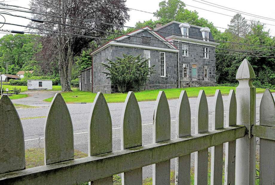 The Haddam Jailhouse on the corner of Route 154 and Jail Hill Road in Haddam. Photo: Catherine Avalone — The Middletown Press  / TheMiddletownPress
