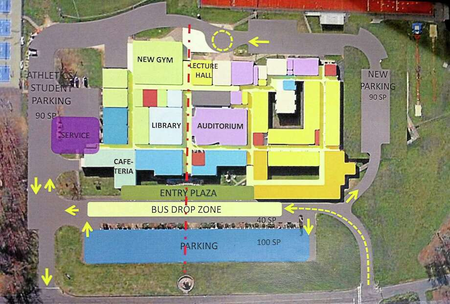 The proposed plan for East Hampton High School. Photo: File Photo