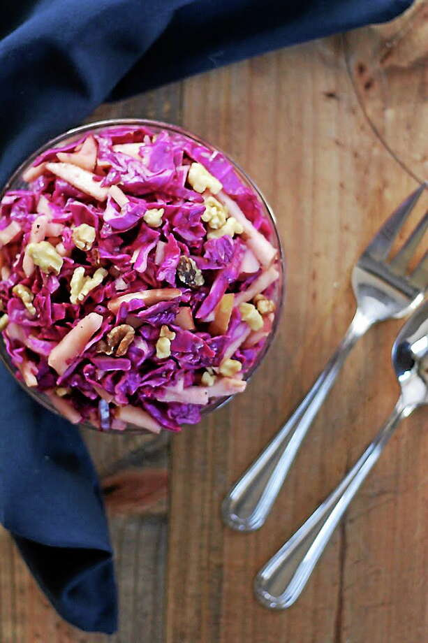 Submitted Photo.  Red cabbage and apple slaw. Photo: Journal Register Co.