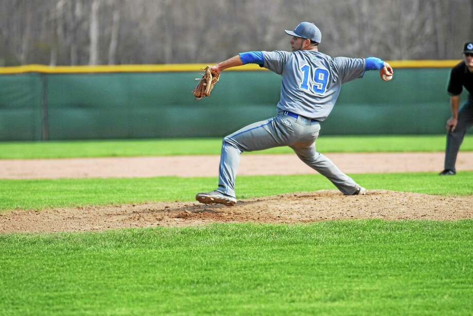 East Hampton senior Marvin Gorgas will be looking to lead the Bellringers to their third Shoreline Conference baseball championship in four years. Photo: Jimmy Zanor — Middletown Press