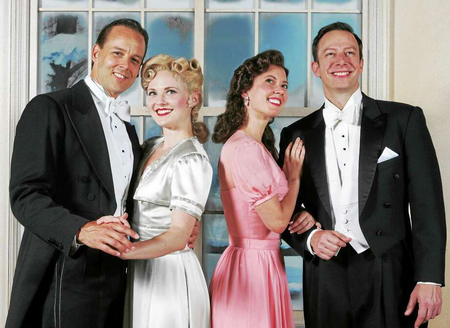 "Photos courtesy of Goodspeed Musicals From left are ""Holiday Inn"" cast members Noah Racey, Hayley Podschun, Patti Murin and Tally Sessions, who play the four lead roles in Irving Berlin's musical. Photo: Journal Register Co."