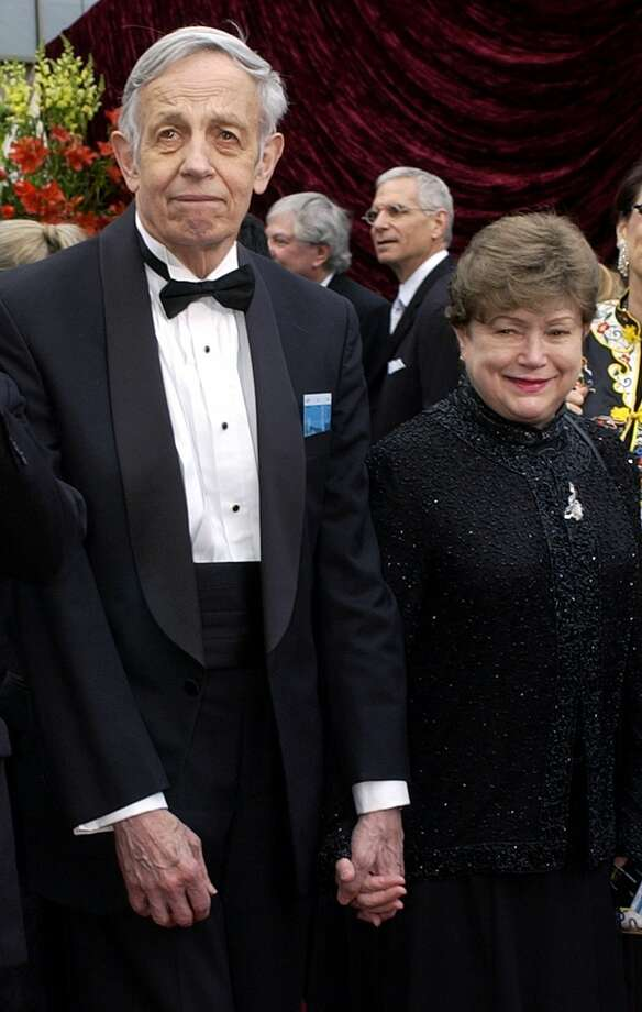 In this March 24, 2002 photo, John Nash, left, and his wife Alicia, arrive at the 74th annual Academy Awards, in Los Angeles. Photo: AP Photo/Laura Rauch, File  / AP