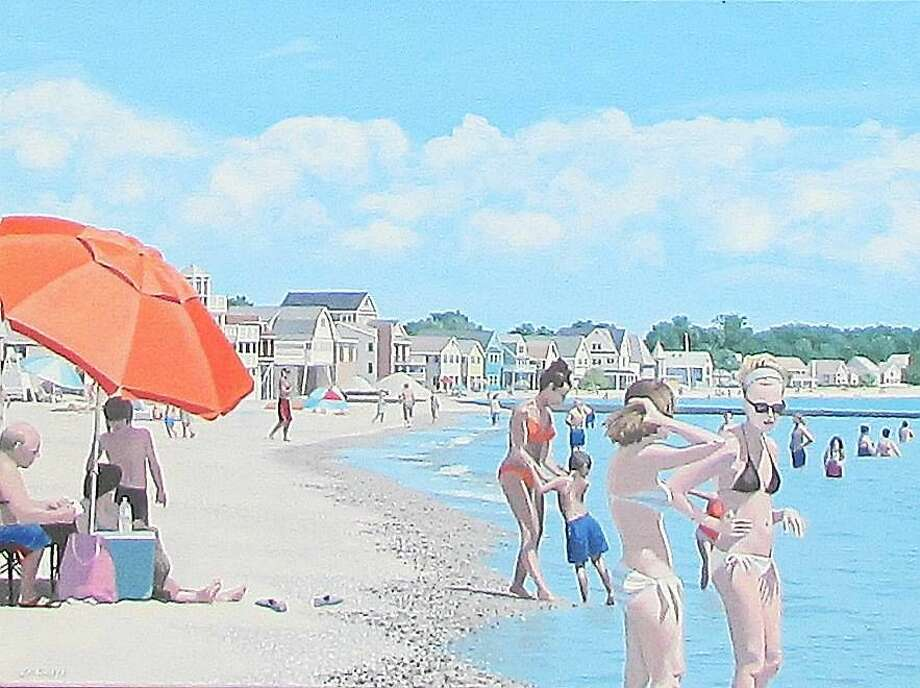 """Image courtesy of the artist """"Silver Sands"""" by Jeffrey A. Sells, who received the Residents' Choice Tommie Davis Award in this year's senior arts festival in Southbury. Photo: Journal Register Co."""