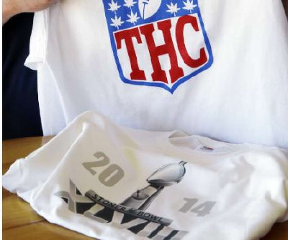 T-shirts such as the ones displayed in this picture are available at www.stonerbowl.org.