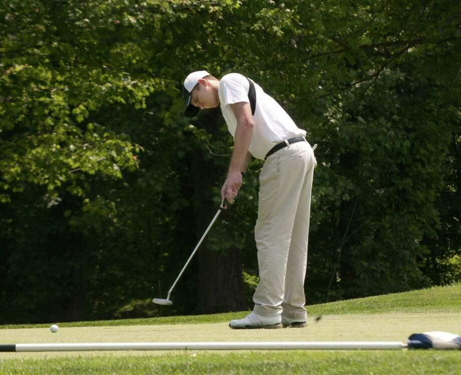 Penn State golfer Geoff Vartelas was a two-time Register Area MVP while at Xavier. Photo: Melanie Stengel — Register File Photo