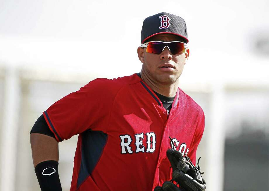 Boston Red Sox minor leaguer Yoan Moncada practices during spring training in March in Fort Myers Fla. Photo: Brynn Anderson — The Associated Press File Photo  / AP