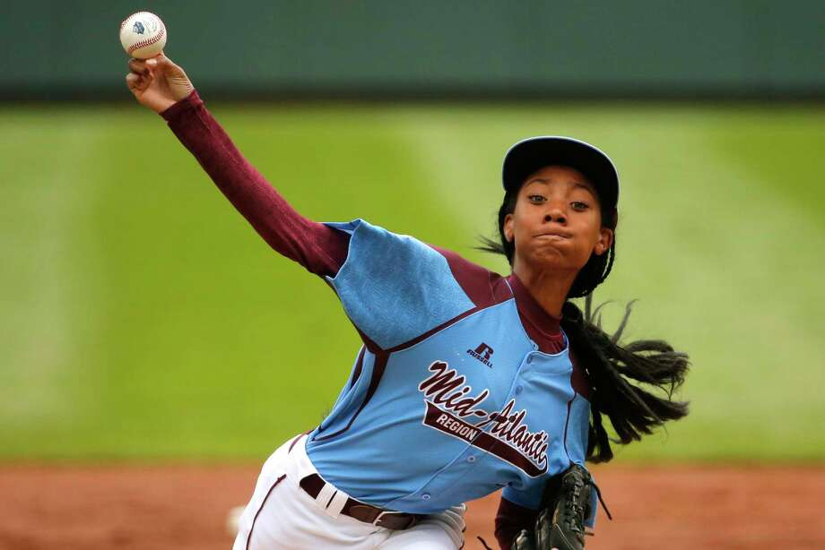 Pennsylvania's Mo'ne Davis, the first girl to win a game at the Little League World Series, will donate the jersey she wore during the game to the Hall of Fame on Thursday. She'll be accompanied by teammates from both her Little League World Series team and the travel team she's played on since she was 7. Photo: Gene J. Puskar — The Associated Press File Photo  / AP