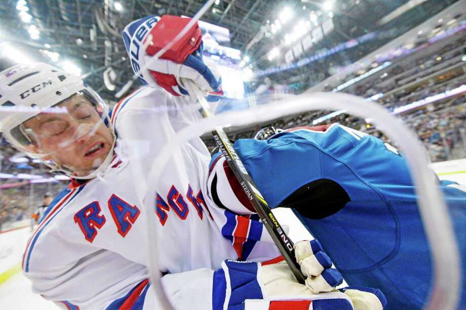 New York Rangers forward Derek Stepan suffered a broken jaw from a hit by the Montreal Canadiens' Brandon Prust during Game 3 Thursday night. Photo: Jack Dempsey — The Associated Press File Photo  / FR42408 AP
